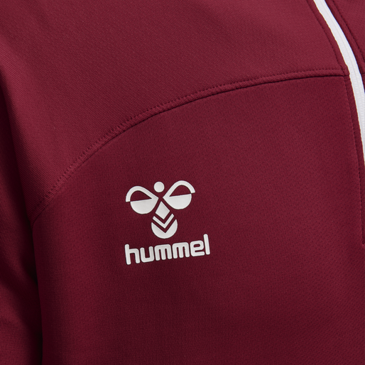 hmlLEAD HALF ZIP, BIKING RED, packshot