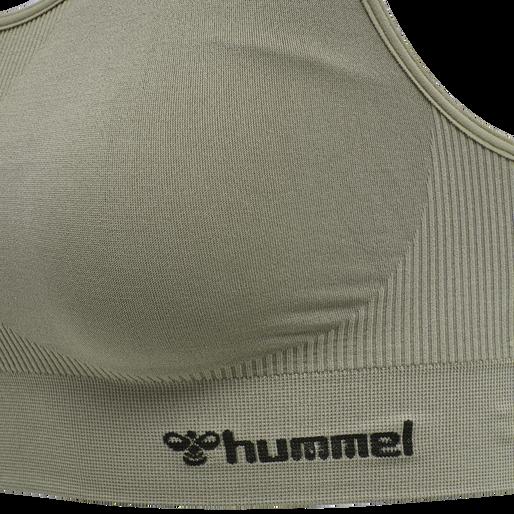 hmlTIF SEAMLESS SPORTS TOP, VETIVER, packshot