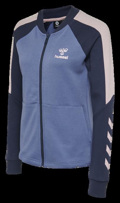 hmlSPICY ZIP JACKET, BIJOU BLUE, packshot