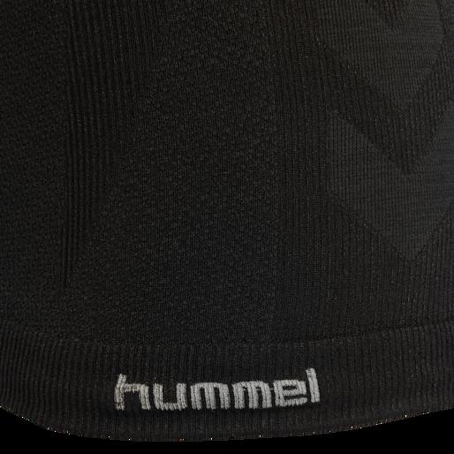 HMLCLEA SEAMLESS TOP, BLACK MELANGE, packshot