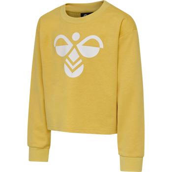 hmlCINCO SWEATSHIRT, CREAM GOLD, packshot