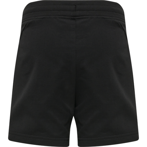 hmlACTION COTTON SHORTS KIDS, BLACK/FIESTA, packshot