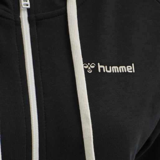 HMLCAMILEST ZIP HOODIE, BLACK, packshot