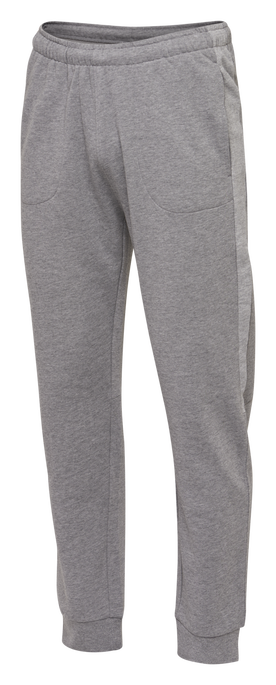hmlACTIVE COTTON PANTS, DARK GREY MELANGE, packshot