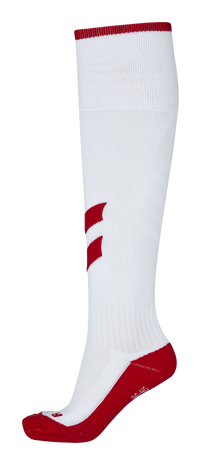 FUNDAMENTAL FOOTBALL SOCK, WHITE/TRUE RED, packshot
