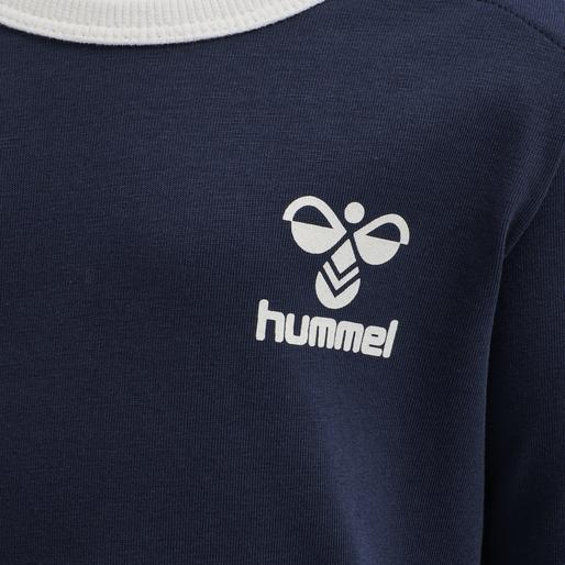 hmlMAUI T-SHIRT L/S, BLACK IRIS, packshot