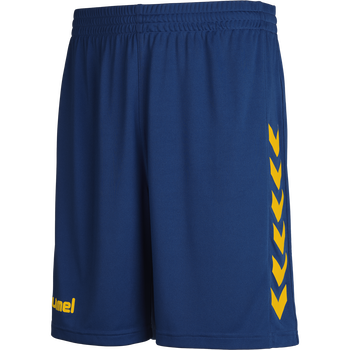 CORE POLY SHORTS, TRUE BLUE/SPORTS YELLOW, packshot