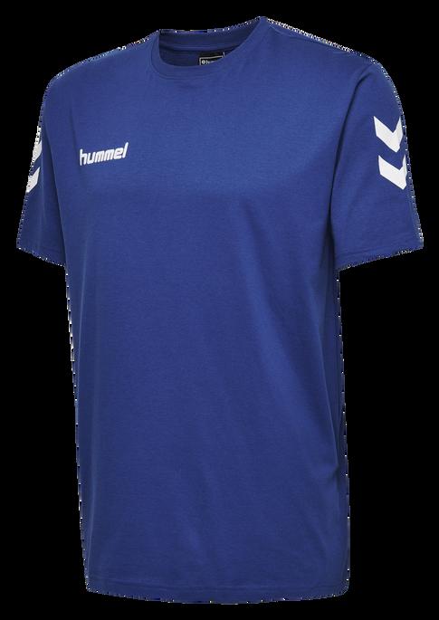 HUMMEL GO KIDS COTTON T-SHIRT S/S, TRUE BLUE, packshot