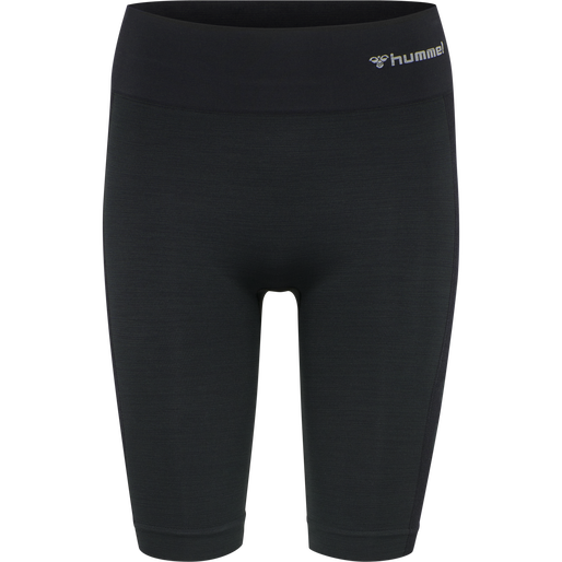 hmlCLEA SEAMLESS CYCLING SHORTS, BLACK MELANGE, packshot