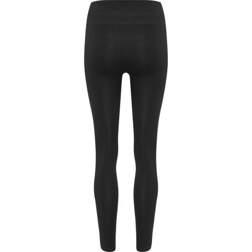 hmlTIF SEAMLESS HIGH WAIST TIGHTS, BLACK, packshot