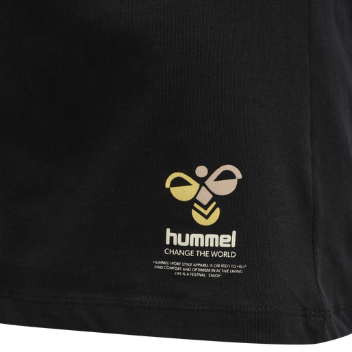 hmlSCARLET T-SHIRT, BLACK, packshot