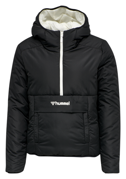 hmlGILL HALF ZIP JACKET, BLACK, packshot