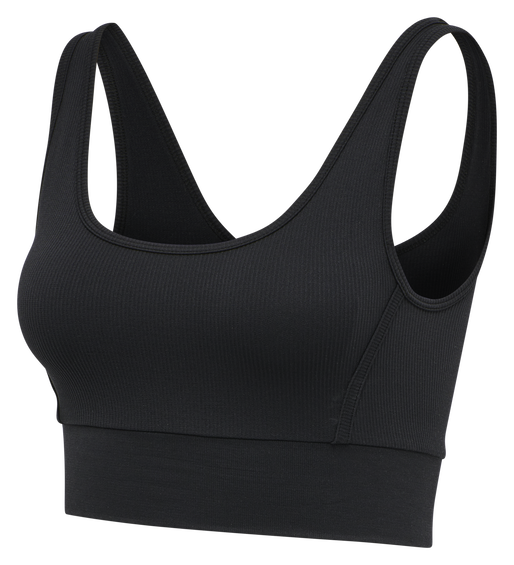 hmlHEROINE SEAMLESS CROPPED TOP, BLACK, packshot