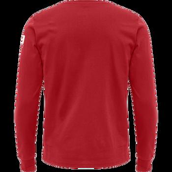 hmlLGC CRAIG T-SHIRT L/S, TRUE RED, packshot