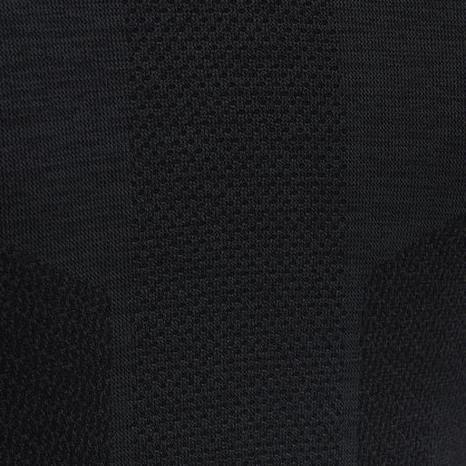 hmlCLEA SEAMLESS T-SHIRT L/S, BLACK MELANGE, packshot