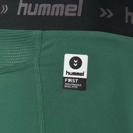 HUMMEL FIRST PERF SHORT TIGHTS, EVERGREEN, packshot
