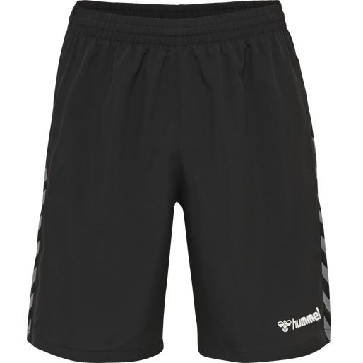 hmlAUTHENTIC KIDS TRAINING SHORT, BLACK/WHITE, packshot