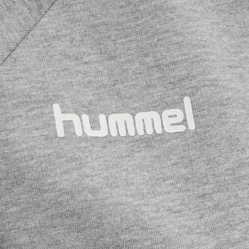 HUMMEL GO COTTON ZIP HOODIE WOMAN, GREY MELANGE, packshot