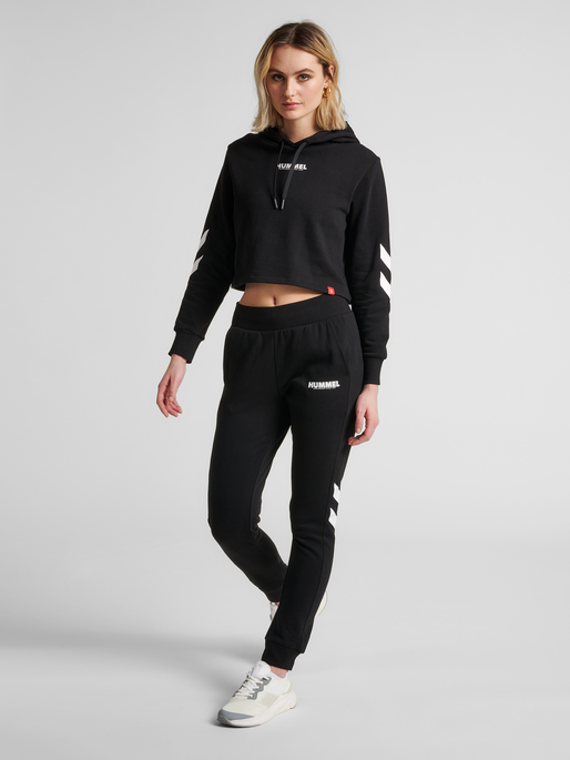 hmlLEGACY WOMAN TAPERED PANTS, BLACK, model