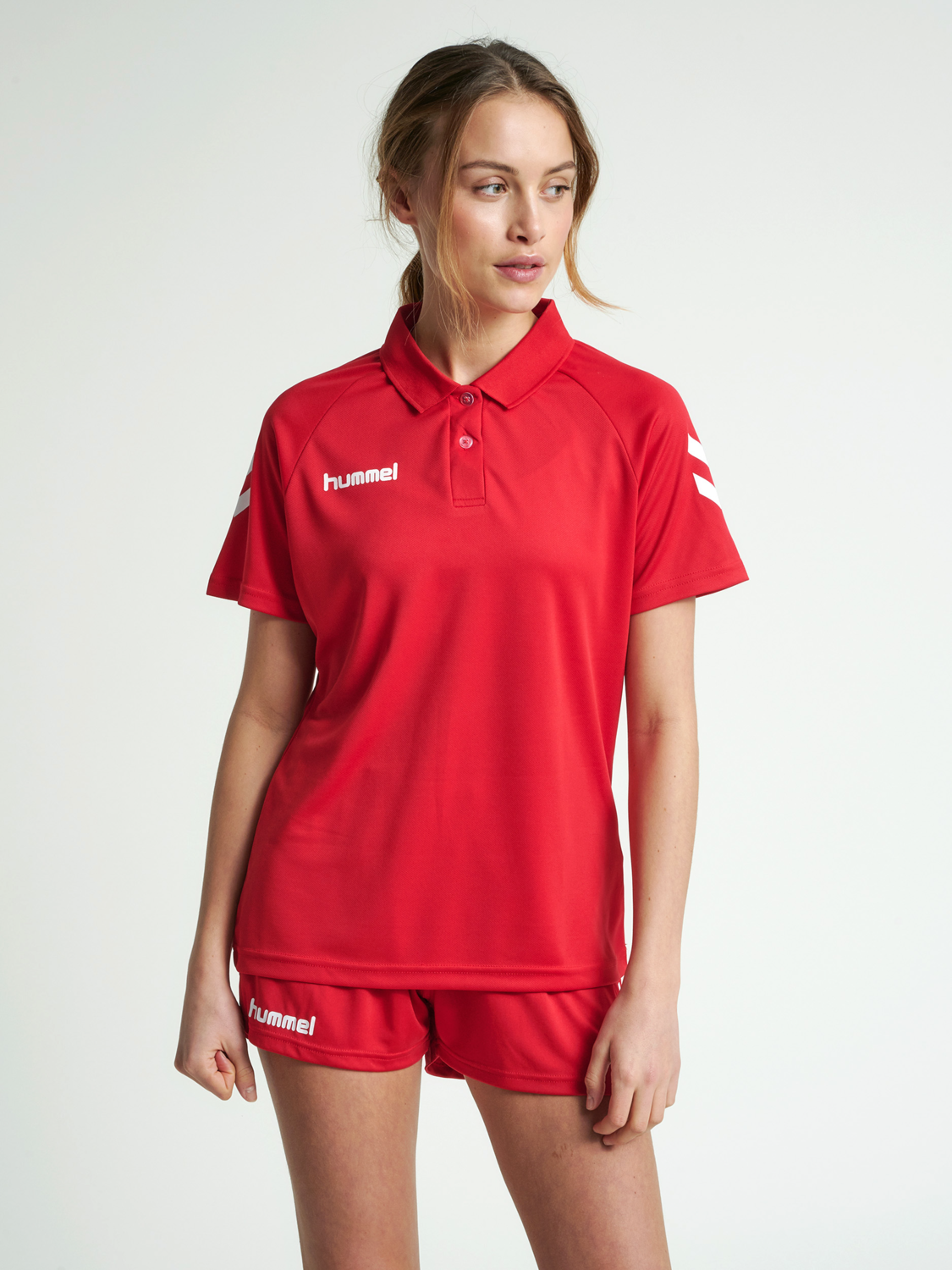 Details about  /Hummel Womens Sports Training Casual Core Functional Short Sleeve SS Polo Shirt